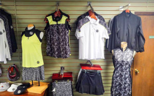 Ladies golf clothing in the pro shop of Bemidji Town and Country Club