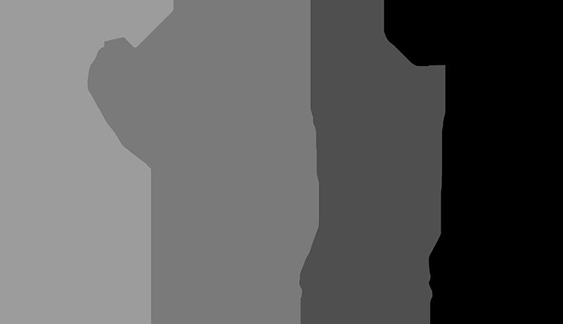 Silhouettes of a man swining a golf club