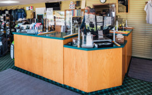 many different golf supplies being sold at Bemidji Town and Country Club