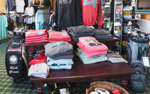 Bemidji Town and Country club sweatshirts in the pro shop